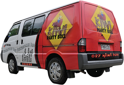 Vehicle liveries and skins by Bellamy Graphics Signs, of Nelson, NZ