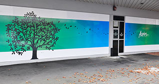 Large scale vinyl graphic panels by Bellamy Graphic Signs of Nelson, NZ